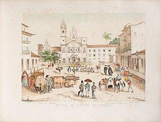 Vista do Pateo do Carmo Casa dos Banhos Convento do Carmo