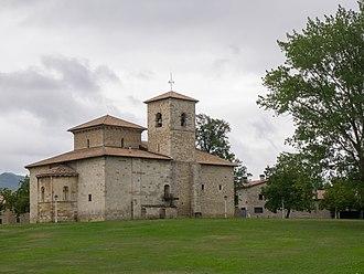 Armentia - A panoramic of the Basilica of Armentia.