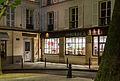 Vitrine au crépuscule, Place Furstemberg, Paris octobre 2014.jpg