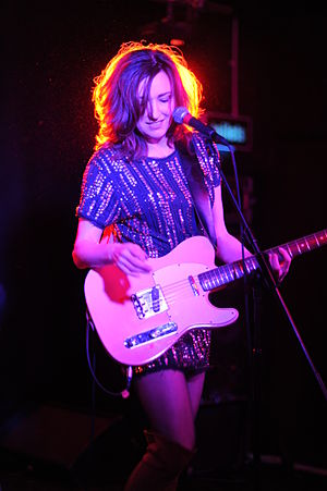 Viv Albertine - Viv Albertine on tour, January 2012.