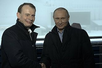 Andrew Marr - Andrew Marr (left) interviewing Vladimir Putin ahead of the Sochi Olympics