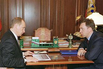 Oleg Deripaska - Vladimir Putin and Deripaska, 19 March 2002