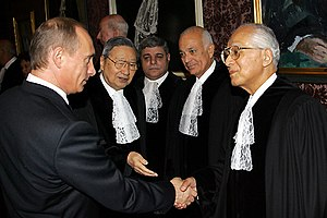 Nabil Elaraby - Elaraby as a member of UN International Court of Justice, meeting with Russian President Vladimir Putin, 2 November 2005
