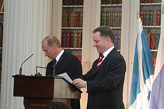 Jack McConnell - First Minister McConnell with President of Russia, Vladimir Putin