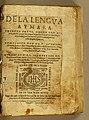 Vocabulario de la lengua aymara Ludovico Bertonio 1612 title page.jpg