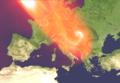 Vortice di Venere comparato con le dimensioni dell'Europa.png