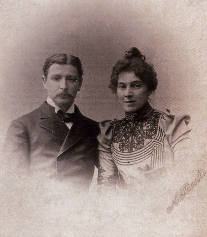 М.А.Врубель и Н.И.Забела. Фото 1896 года
