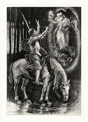 Sir Galahad (poem) - Illustration, c. 1901, by W. E. F. Britten.