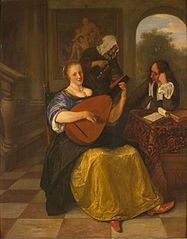 Woman Playing the Lute