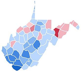 1992 United States presidential election in West Virginia - Image: WV1992