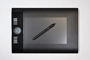 English: Wacom Intuos4 Medium Pen Tablet with pen.
