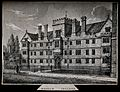 Wadham College, Oxford. Lithograph. Wellcome V0014185.jpg