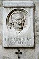 Waldeck Heinrich Suso, Gedenktafel, Wien 1010.jpg