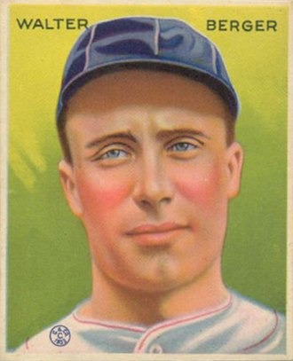 Pocatello, Idaho minor league baseball teams - Wally Berger, 1933 Goudey card