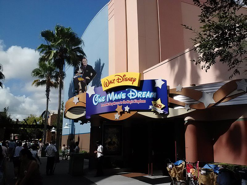 File:Walt Disney, One Man's Dream entrance.jpg