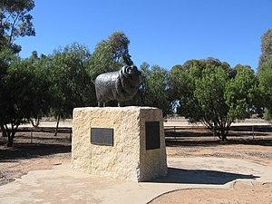 Peppin Merino - The Peppin Merino memorial at Wanganella, New South Wales