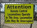 Warning remote controlled locomotives Memphis TN 010.jpg