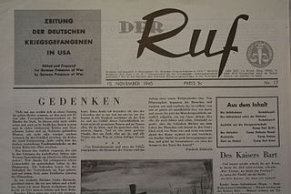 <i>Der Ruf</i> (newspaper) periodical literature