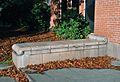 Washington HS Portland Oregon - stone bench by main entrance.jpg