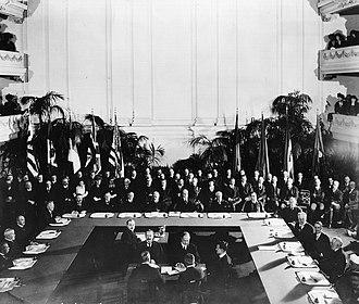 Washington Naval Treaty - Signing of the Washington Naval Treaty.