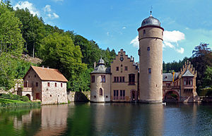 Water castle - Mespelbrunn Castle (Bavaria, Germany)