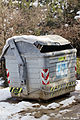 Waste container after snowfall in Catalonia, Spain - 20100310.jpg