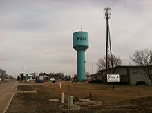 Water Tower of Hull, Iowa.JPG