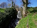 Waterfall feeding the River Cover . Note footpath to the right - geograph.org.uk - 416216.jpg