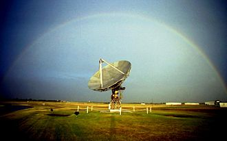 NEXRAD - Testbed of the WSR-88D on display at the National Severe Storms Laboratory.