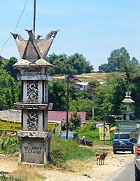 Welcome gate to Kabanjahe, Karo 01.jpg
