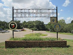 Welcome to Harrisburg sign Harrisburg AR 2012-08 014.jpg