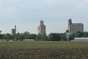 Weldon Illinois Water tower and Grain Elevators.jpg