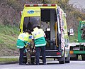 Wellington Free Ambulance Paramedics treat firefighter - Flickr - 111 Emergency.jpg