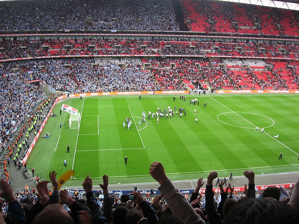 Wembley Manchester derby after final whistle