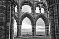 Whitby Abbey ruins (Inside the Presbytery looking south).jpg