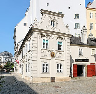 Das Dreimäderlhaus - The Dreimäderlhaus in Vienna, associated with Schubert through the operetta, though he never lived here.  Beethoven lived in a house behind this.