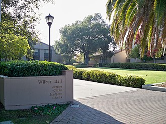 Ray Lyman Wilbur - Wilbur Hall, a student residence on the Stanford University campus.