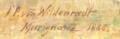 """Wilden signature sur """"Matin au bord de l'étang de Bolmon"""".png"""