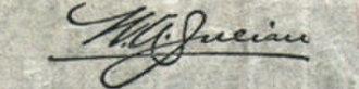 William Alexander Julian - Image: William A Julian sig