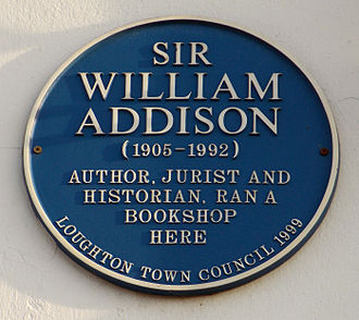 William Wilkinson Addison - Image: William Addison blue plaque, Loughton