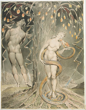 """The Temptation and Fall of Eve (Illustration to Milton's """"Paradise Lost"""")"""