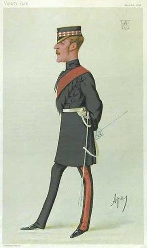 "Royal baccarat scandal - Gordon-Cumming as depicted by ""Ape"" in Vanity Fair, 1880"