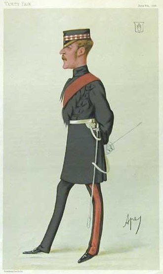 "Sir William Gordon-Cumming, 4th Baronet - Gordon-Cumming as depicted by ""Ape"" (Carlo Pellegrini) in Vanity Fair, 1880."