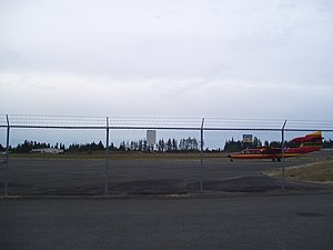 William R. Fairchild International Airport - Tarmac with a Britten Norman Trislander aircraft