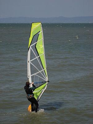 San Francisco Bay Area Water Trail - Windsurfer in San Mateo County, California