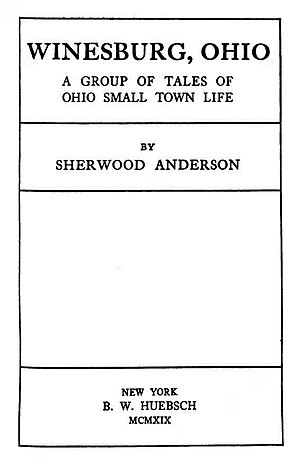 Winesburg, Ohio - First edition title page