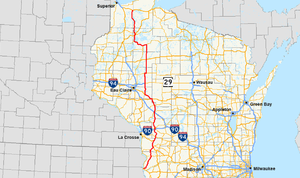 Wisconsin Highway 27 - Image: Wis 27 map