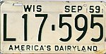 Vehicle registration plates of Wisconsin - Wikipedia
