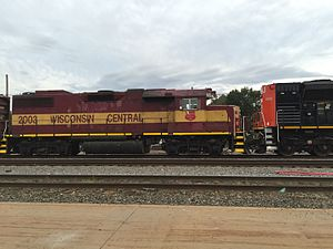 Wisconsin Central Ltd. - Image: Wisconsin Central 2003 GP38 2 Ex AC