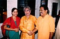 With Birju Maharaj, Krishna Gana Sabha, 2002.jpg